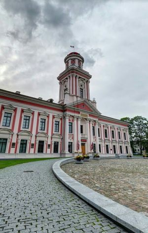 Relaxing Hi! Check This Out Hanging Out Cheese! View City Latvia Museum Red And White