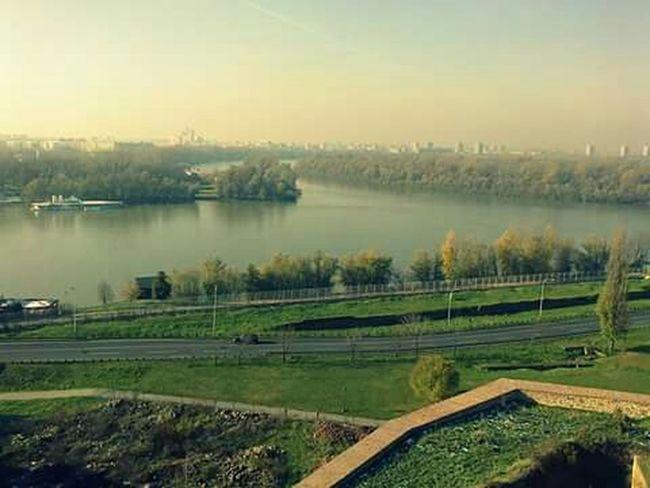 Belgrade,Serbia Danube River Sava River