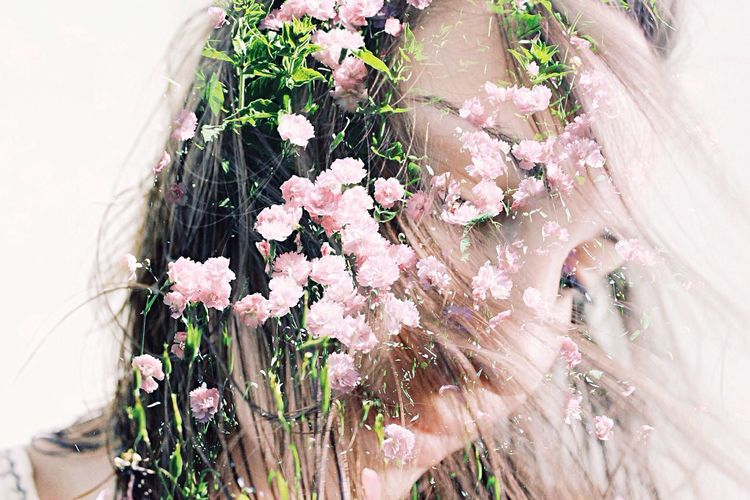 windy. Flowers Rosé Double Exposure Doubletrouble Hair Wind Showcase: February Well Turned Out