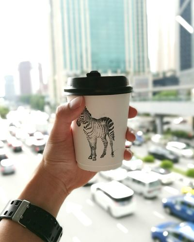 Latte Never Too Late. 🕘 City Urban Latte Late Handheld Zebra Doodling Coffee Caffeine Outdoor