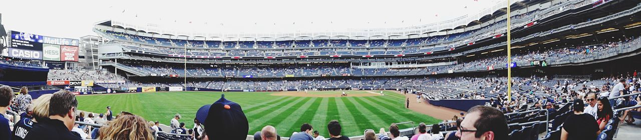 Large Group Of People Crowd Stadium Sport High Angle View Architecture Built Structure Watching Audience People Outdoors Adults Only Sports Event  Day Adult New York New York City Baseball Yankees Yankee Stadium