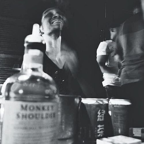 another night. photo by @ayutami Chill Chillout HangLoose Relax Relaxing Bar Cafe Monkeyshoulder GoodTimes Instagram Instamood Instapic Instacafe Nightlife Blackandwhite Photography Photo Candid Snapseed Jakarta INDONESIA