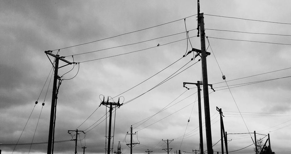 Power Lines Electricity  Grid Posts
