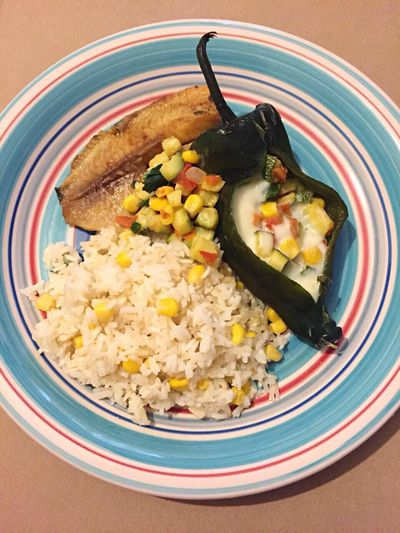 Rice Chile Relleno Day Fish Food Food Stories Freshness Healthy Eating Indoors  Mexican Food No People Plate Ready-to-eat