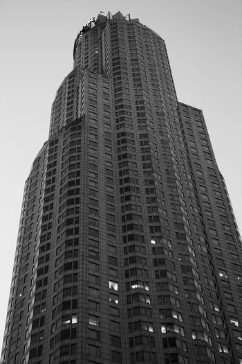 Monochrome Photography Architecture Building Exterior Built Structure Tall - High Skyscraper City Building Story Low Angle View Modern Tower Window Usbanktower Losangeles Blackandwhite Photography Bnw_society Bnw_worldwide Bnw_life Bnw_collection