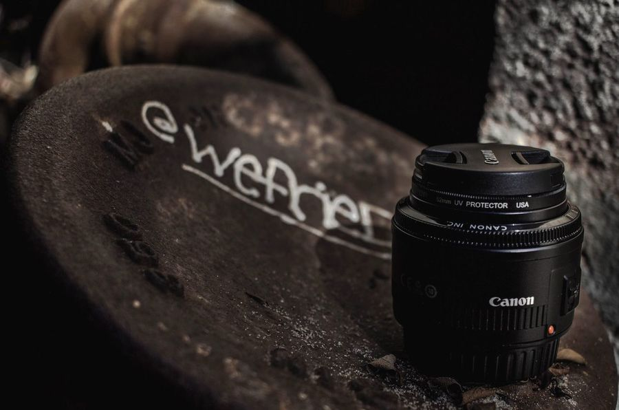 50mm - A photographer's best friend ! Text Western Script Communication Close-up No People Number Camera - Photographic Equipment Lens - Optical Instrument Still Life Photography Themes
