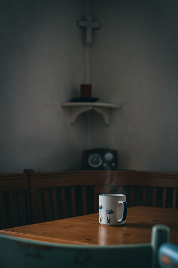Table Indoors  Cup No People Still Life Mug Coffee Drink Home Interior Coffee Cup Radio Cross Chairs Silence Seat Cabin