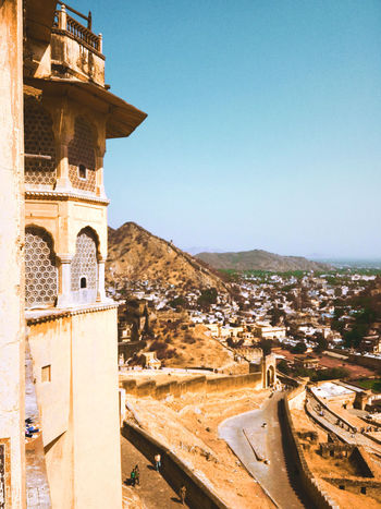 Architecture History Day Outdoors Travel Destinations Built Structure No People Building Exterior Sky Clear Sky Jaipur Rajasthan Amerfortjaipur Amer Fort