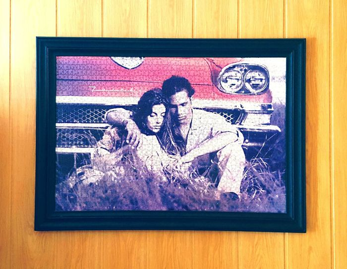 Love Cupple Puzzle  Pictured Frame American Cars Vintage Grand Parents my girlfriends grand parents have this in there living room and I admire it, a perfect puzzle and a perfect picture