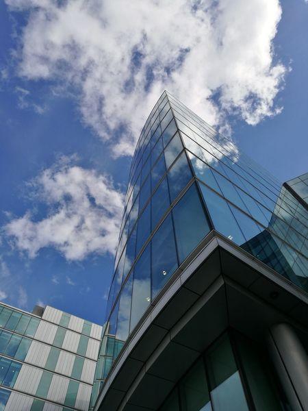 London South Bank Building Skyscraper Mirror Architecture Landscape Cloudy Blue Sky River Thames Bank