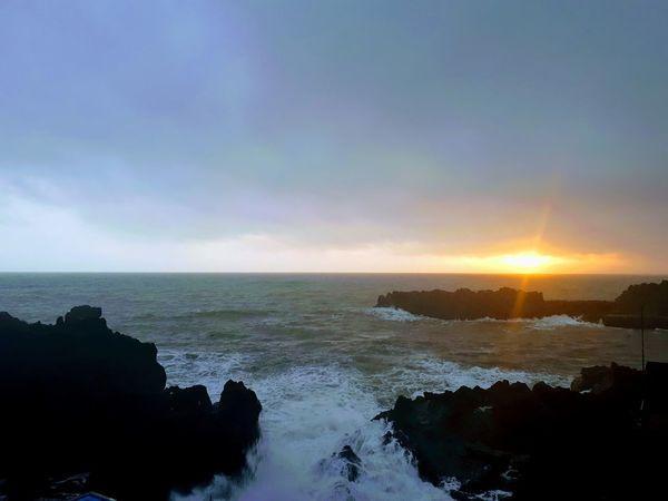 Calm after the storm Madeira Sun Sunset Sea Sea And Sky Seascape Sea Life Madeira Camara De Lobos Lights Love Rocks Rocks And Water Portugal