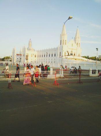 In the holy land Praying @ Velankanni Shrine