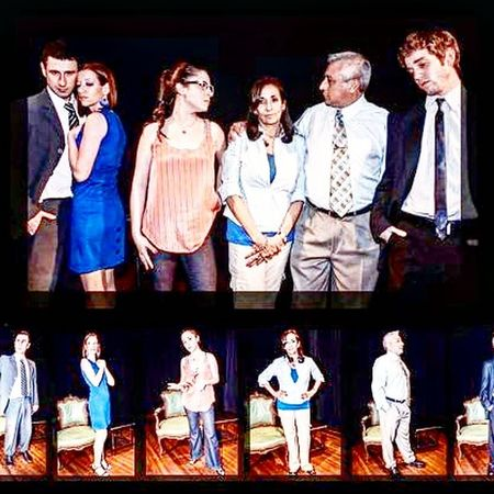 Elenco de La vida Perfecta. De Alejandro Bovino Maciel. Teatro Politico de Argentina. Direccion de Jorge Graciosi. Friendship Young Women Indoors  Young Adult Large Group Of People People Mature Women Smiling Happiness Women Adult Togetherness Adults Only Performance Youth Culture Spirituality Religion Staircase Architecture Traditional Festival Looking At Camera Alejandro Maciel. Human Representation Arts Culture And Entertainment Alebovino