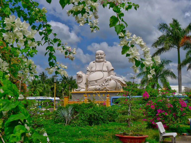 Buddhist Temple Day No People Outdoors Religion Statue Tree Vinh Trang Pagoda