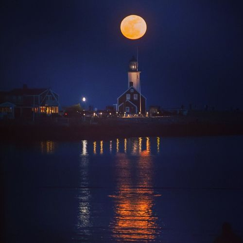 Moon over Scituate Light First Eyeem Photo