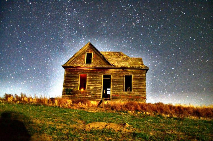 Took this beauty when it was super black out, good thing i have a Nikon D7000 so I could keep the aperture open a while Night Abandoned Landscape Sky Star - Space Outdoors Galaxy Architecture Nikon D7000