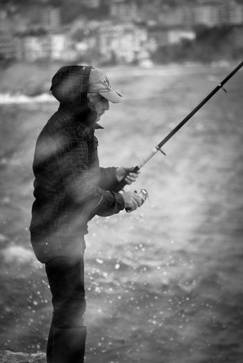 Close-up Day Drops Drops Of Water Fisherman Fishing Fishing Pole Fishing Tackle Fishing Time Holding Men Moments Nature One Person Outdoors People Real People Side View Followme Standing Turkey Water Wave The Portraitist - 2017 EyeEm Awards EyeEmNewHere Visual Creativity