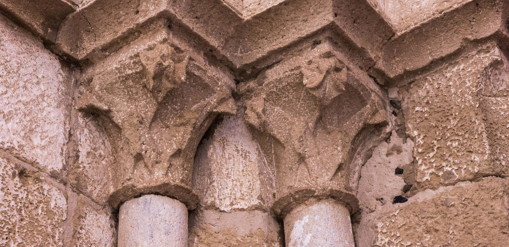 Ancient Archaeology Architecture Built Structure Close-up Column Capitals History No People Old Ruin Outdoors Pilasters Pillars Sculpture Stone Material