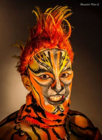 Vibrant Color Portrait Face Paint Multi Colored Adults Only One Man Only One Person Studio Shot People Headshot Human Body Part Only Men Beauty Smiling Young Adult Adult Beautiful People Bodyart Bodypaint Bodypainting Face Art