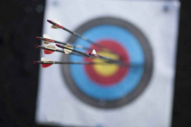 Aiming Arrow Target Accuracy Archer Archery Close-up Day Focus Hunting Ring Score Skill  Sports Target Success
