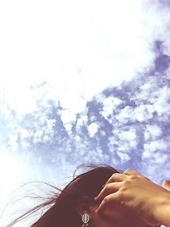 Heaven Hair Tothewind Blue Beautiful Clouds
