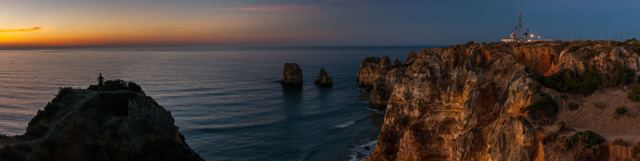 Cliffs Lagos Lost In The Landscape Phototraveling Portugal Admiring The View Beauty In Nature Lighthouse Nature Newday Outdoors Rock - Object Sunrise TravelinginPortugal