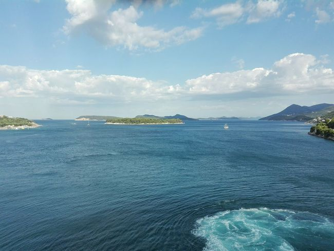 Heaven On Earth Croatian Landscape Dubrovnik, Croatia Islands Sky Clouds Sea And Sky Between Earth And Sky Blue Blue And Green Can't Believe It Godscreation Colour Of Life Landscape Travel Photography Eyeem Photo Mobilephotography