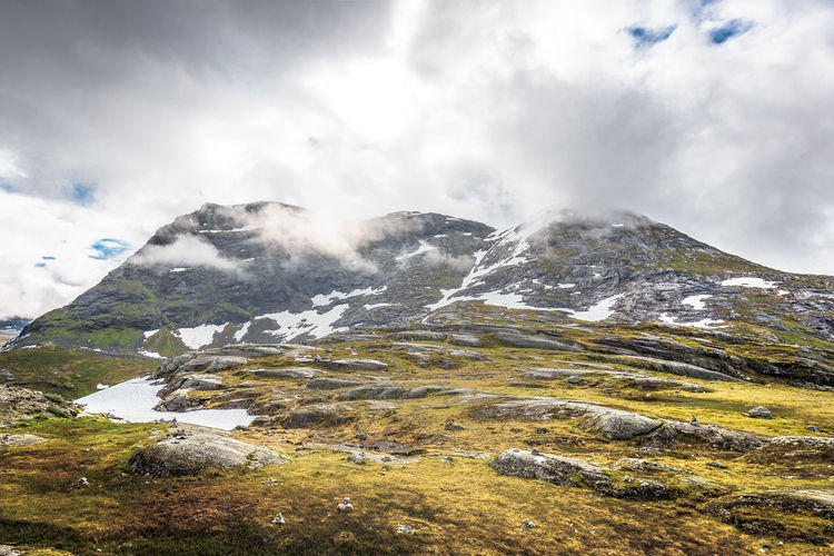 norway wilderness Norway Beauty In Nature Cloud - Sky Day Landscape Mountain Mountain Range Nature No People Outdoors Scenics Sky Snow Snowcapped Mountain Tranquil Scene Tranquility Trollstigen
