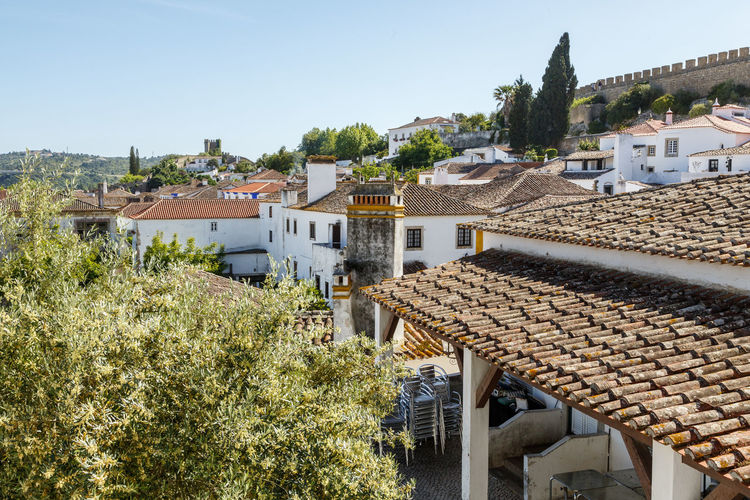 Architecture Building Exterior Built Structure Clear Sky Day House No People Outdoors Residential Building Roof The Architect - 2017 EyeEm Awards Tiled Roof  Town Tree Óbidos