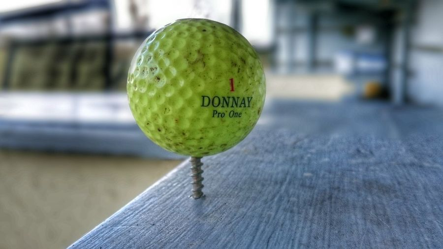 Golf Golf Ball Driving Range Sport Sports Photography Sport In The City Yellow Close Up Background Defocus Photography Taking Photos Check This Out My Style Interesting Perspectives Screw Screw Ball Screwball