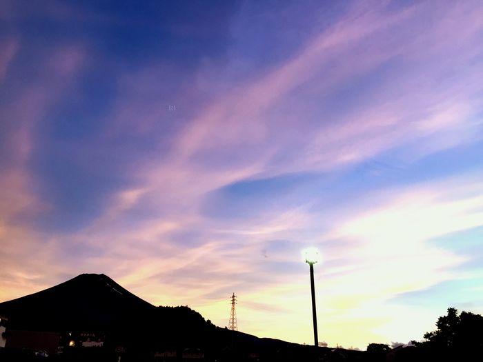 富士山 夕焼け IPhone