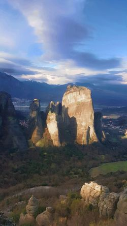 The Meteora Monasteries, Kalampaka, Greece Cloud GREECE ♥♥ Rock Formation Beauty In Nature Cloud - Sky Clouds And Sky Day Greece Kalampáka Landscape Mountain Nature No People Outdoors Physical Geography Rock - Object Rock Formation Scenics Sky Tranquility Travel Destinations