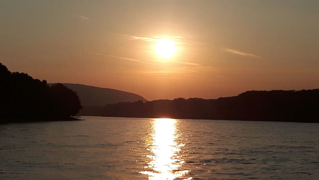 Sunset Over The River Mountains No Edit/no Filter Danube River Slovakia