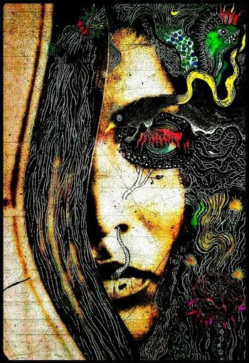 ..a face can take centuries to find her groove.. Emography The Year Of The Mermaid.... ..under Your Current.. ..this Look Is A Bridge.. ..graffiti wang's drawing..