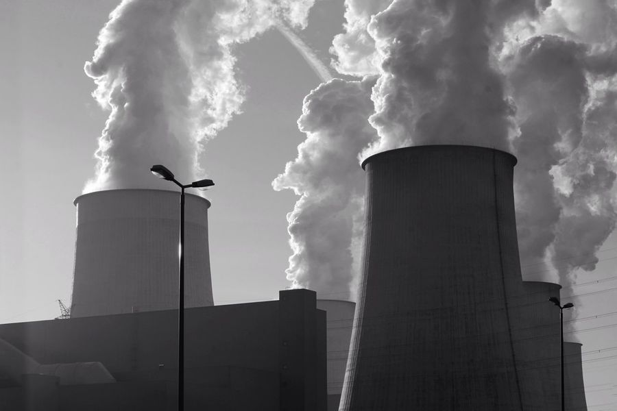 EyeEmNewHere Industry Industrial Building  Power Station Sky Steam Architecture Black And White Jänschwalde