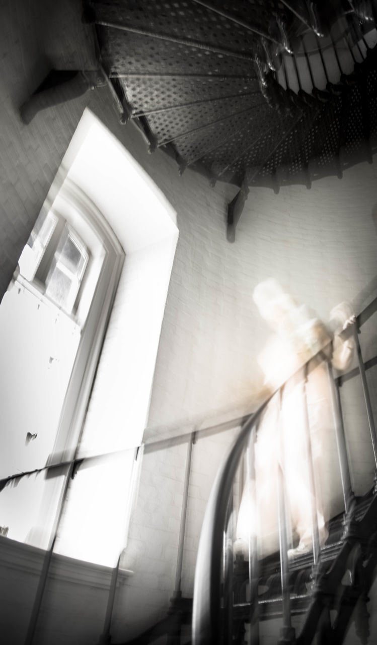 Ghost On Spiral Stairway