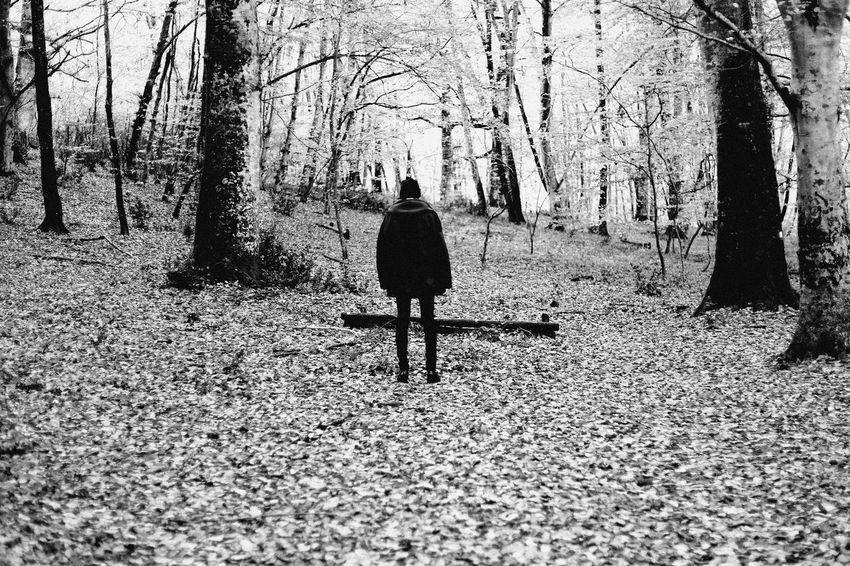 LOST Blackandwhite Monochrome Woods Myself