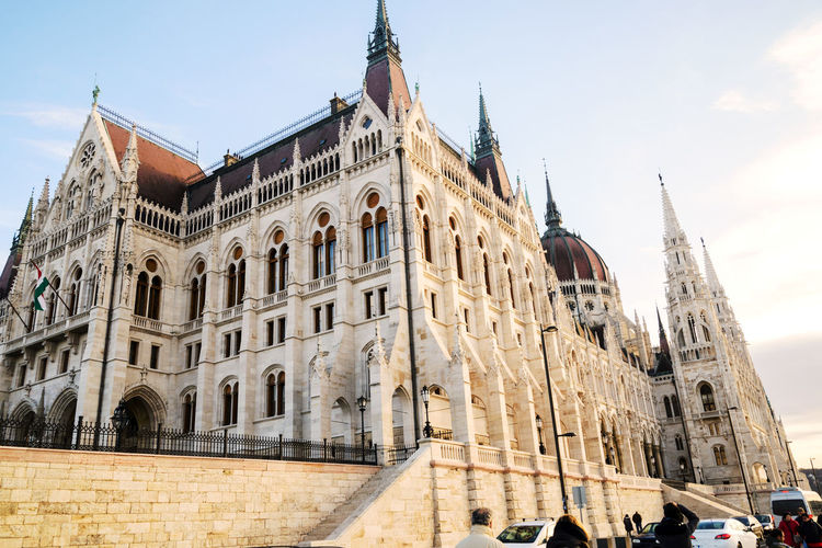 Building Exterior Architecture Built Structure Sky The Past Building History Travel Destinations City Travel Nature Day Low Angle View Tourism Place Of Worship Tower Outdoors Gothic Style Government Budapest Hungary Parlament Of Hungary Parlament