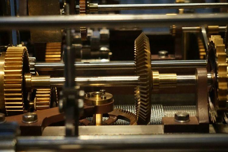 Full Frame Shot Of Clockworks