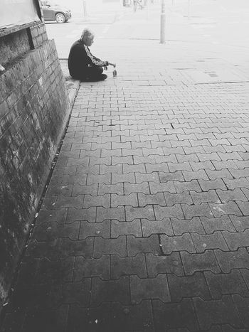 Portrait Of A Man  Portrait Photography Portrait Black And White Portrait Black And White Photography Black And White Collection  Street Life Tunnel Sitting Alone Relaxing City Life City Street My City Street Photo GalaxyS7Edge Good Morning Still Life Showcase July People_collection Monochrome Photography