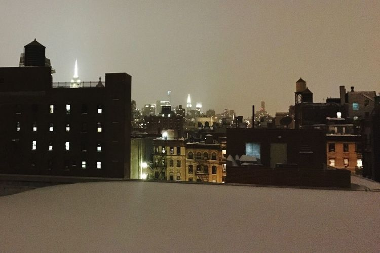 NYC Skyline Snow Rooftops