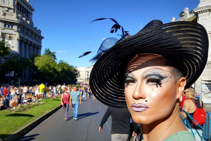 Portrait Of Drag Queen At City Street