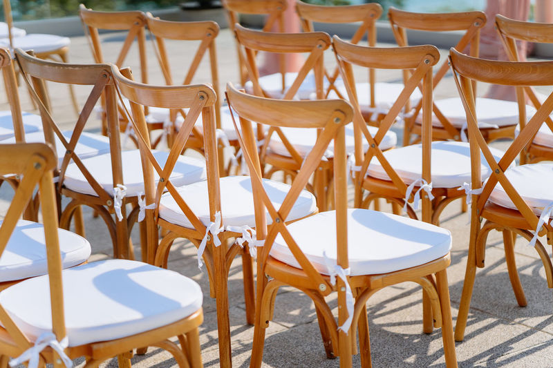 Folding lawn chairs setup for beach wedding Banquet Beautiful Celebration Elegant Engagement Event Guess Happiness Modern Nature Setting Setup Wedding Aisle Beauty Ceremony Chairs Decoration Design Folding Chair Idea Minimal Preparation  Sky Style