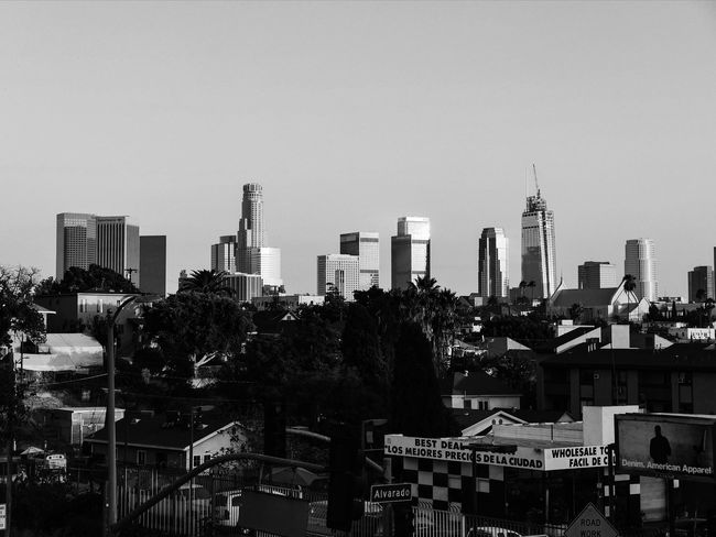 Urban Skyline Architecture City Skyscraper Cityscape City Life Tall - High Tower Sky Urban Geometry Urban Landscape Blackandwhite Hood WestCoast Growth Clear Sky Losangeles DowntownLA Change Building Streetphotography Echo Park  Building Exterior Built Structure California Dreamin