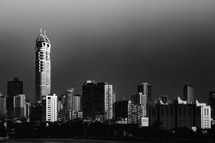 Architecture Black And White Blackandwhite Building Exterior Built Structure City Cityscape India Mumbai No People Outdoors Skyscraper Urban Skyline