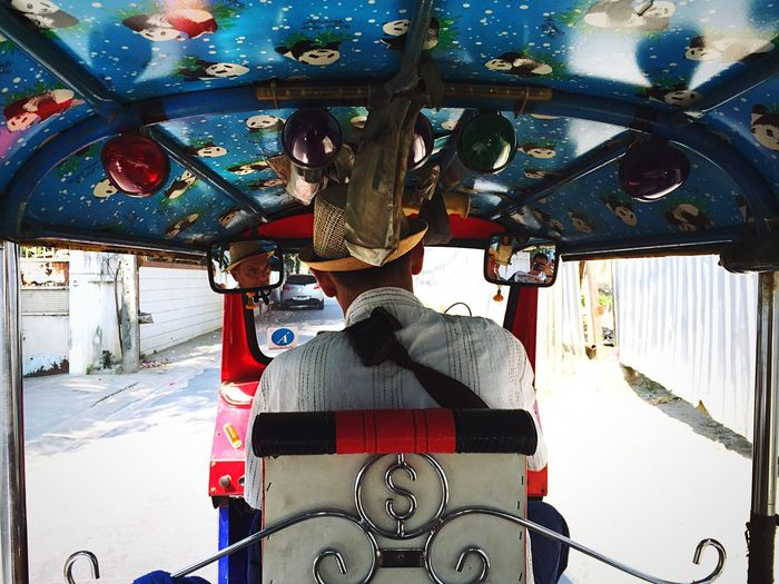 Pimped out Panda interior. Travel in style. Open Edit OpenEdit TukTuk Tuk-tuk Bangkok Bangkok Thailand. Travel The Places I've Been Today Asian Culture The Traveler - 2015 EyeEm Awards