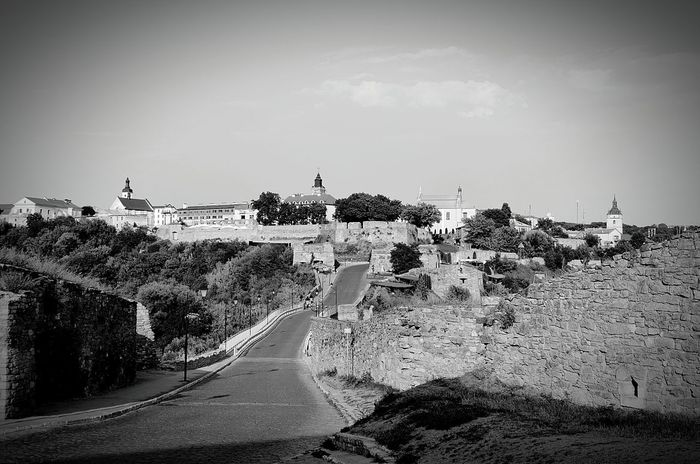 Road Landscape Long My Favorite Place Old Black&white Fortress History Kamenets-Podolsky Travel Architecture Tourism Stone Wall
