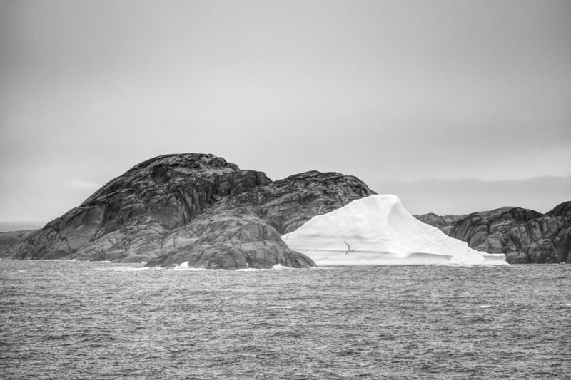 Cloudy Day Greenland Icebergs Beauty In Nature Black And White Blackandwhite Clear Sky Day Greenland,ilulissat Iceberg Landscape Mountain Nature No People Outdoors Scenics Sea Sky Tranquil Scene Tranquility Black And White Friday EyeEmNewHere