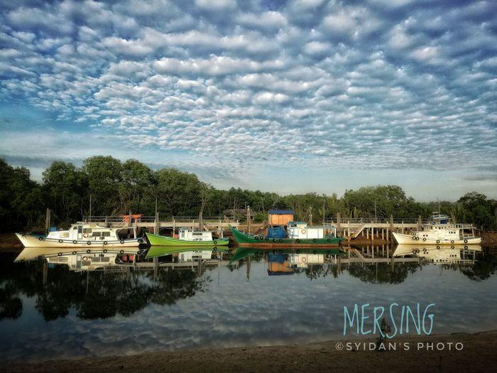 Beutiful Mersing Water Reflection Cloud - Sky Johor, Malaysia Snapseed Editing  Beauty In Nature Huawei Mate 8