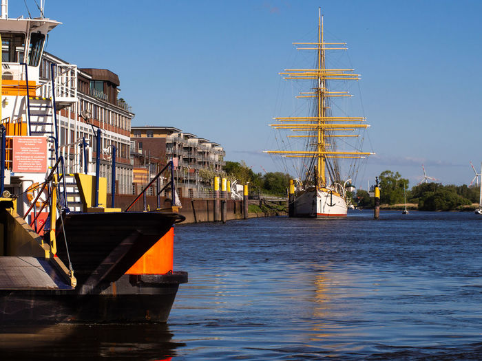 Nautical Vessel Sailboat Waterfront Clear Sky Port Outdoors Sky No People Sea Moored Windjammer Schulschiff Deutschland Sailing Ship Ferryboat